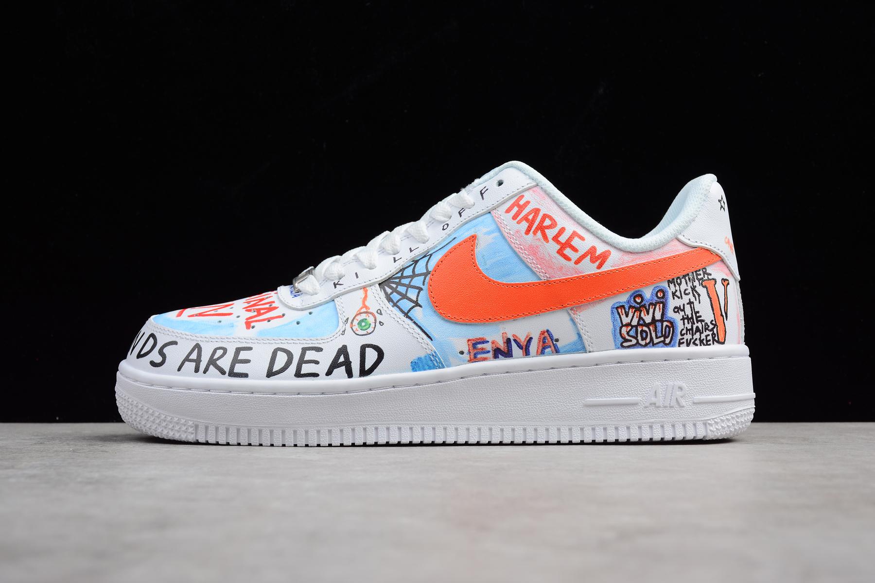 Custom Pauly x Vlone Pop Nike Air Force 1 Low Graffiti Harlem ...