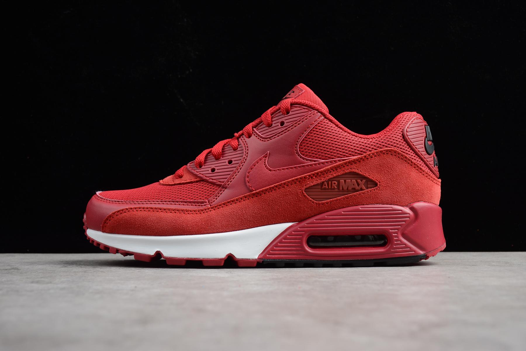 Nike Air Max 90 Essential Gym Red/Black-White 537384-604 Men's Shoes