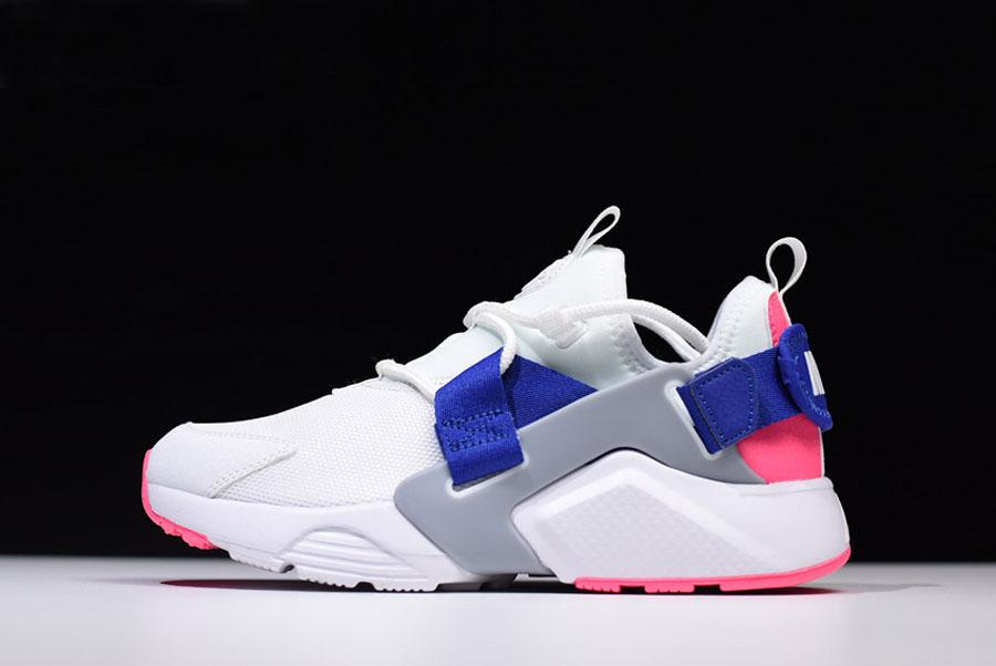 Nike Women's Air Huarache City Low White/Hot Punch-Loyal Blue ...