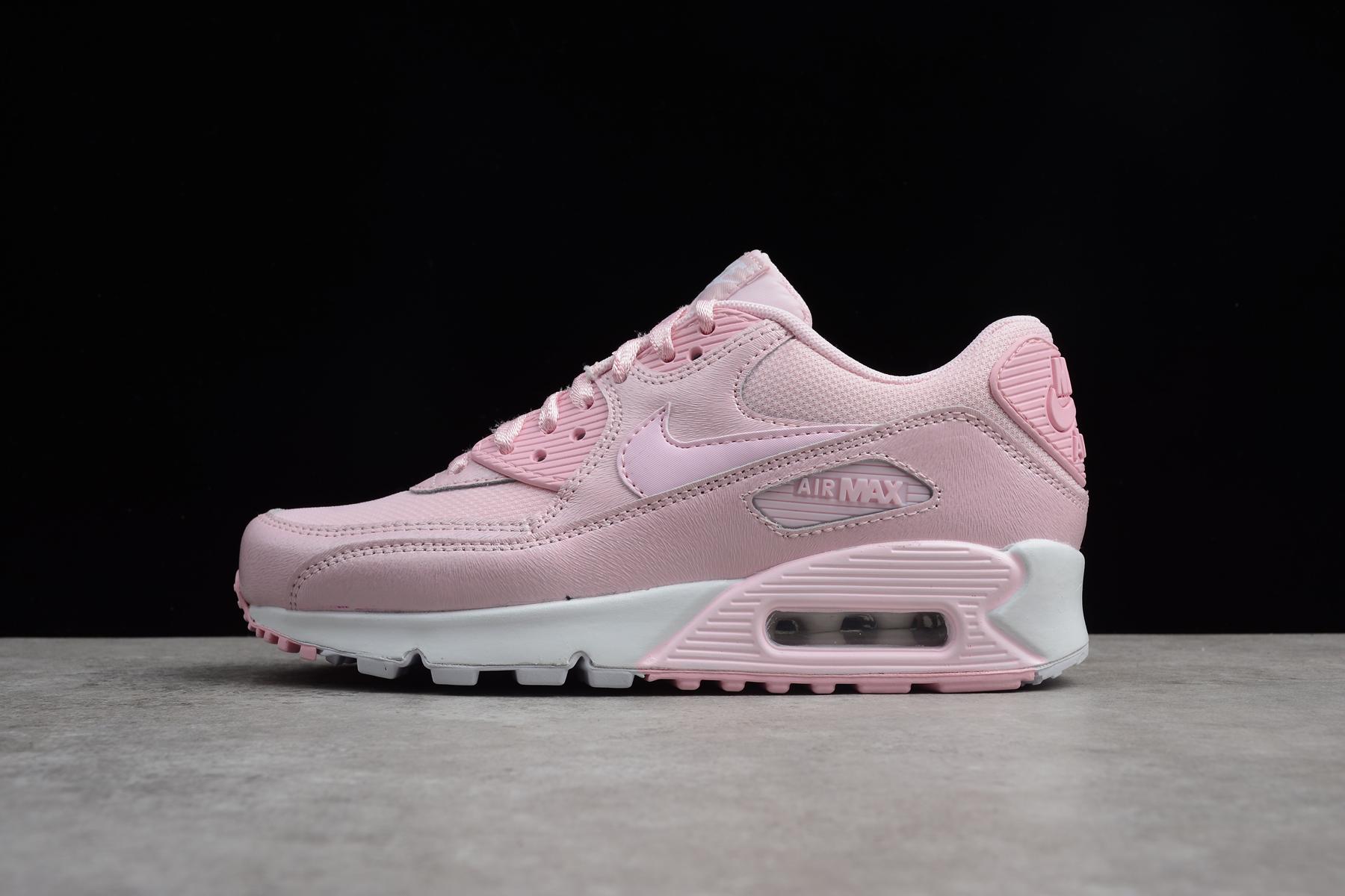 Women's Nike Air Max 90 Se Mesh GS Prism Pink/White 880305-600