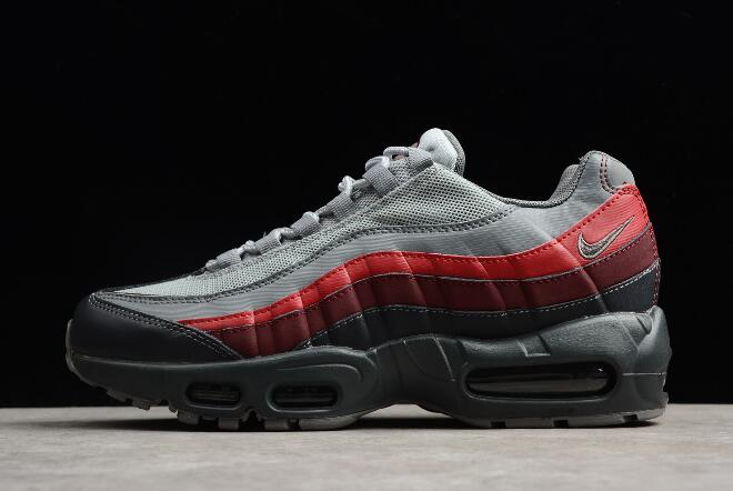 Nike Air Max 95 Essential Anthracite/Cool Grey-Red Running Shoes ...
