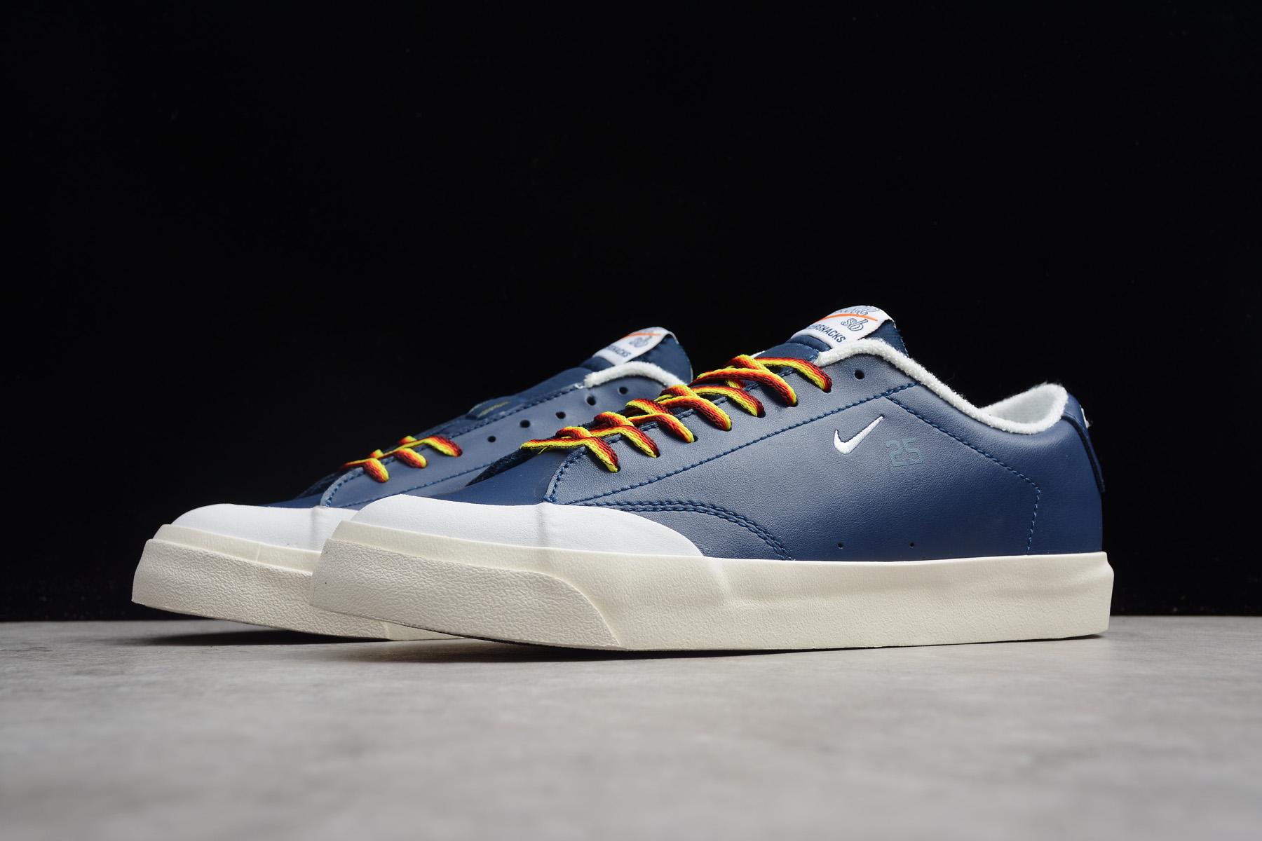 Quartersnacks X Nike Sb Zoom Blazer Low Xt Navy Sail White Aq3499 411