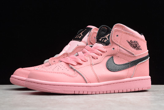 2019 Air Jordan 1 Retro High Pink Black Kids' Sizing 555112-601