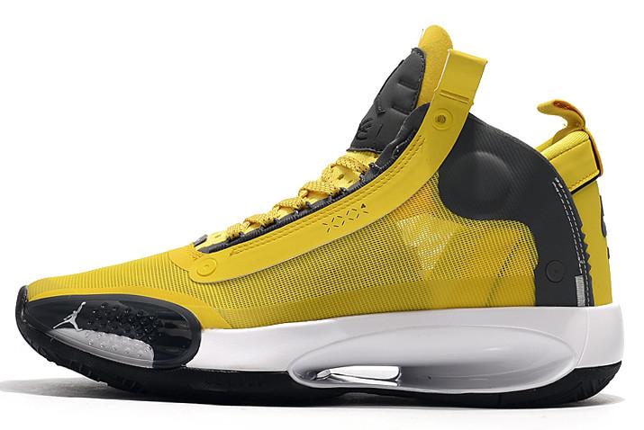 Air Jordan 34 Yellow/Grey-White Shoes Hot Sale