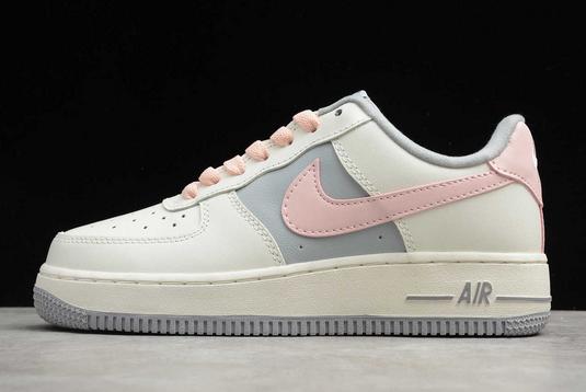 2020 Cheap Women's Shoes Nike Air Force 1 Low Beige/Grey-Pink CW7584-101