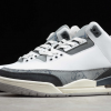 2020 KAWS x Air Jordan 3 Fresh Water White/Light Grey Sneakers-1