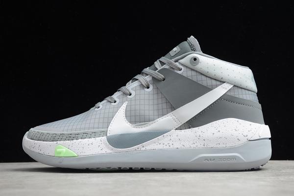 2020 Men's Nike Zoom KD 13 EP Wolf Grey/White-Silver Shoes CK6017-001