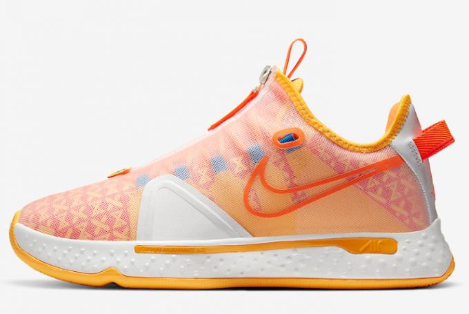 "2020 Gatorade x Nike PG 4 ""Citrus"" Basketball Shoes CD5078-101 For Sale"