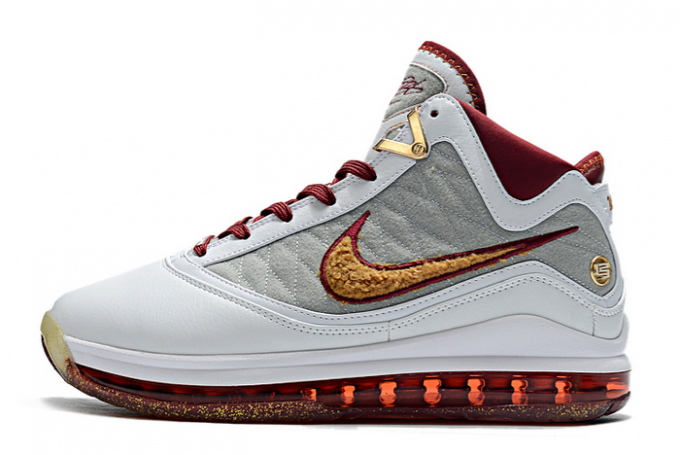"2020 Nike LeBron 7 ""MVP"" White/Team Red-Wolf Grey-Bronze CZ8915-100 For Sale"