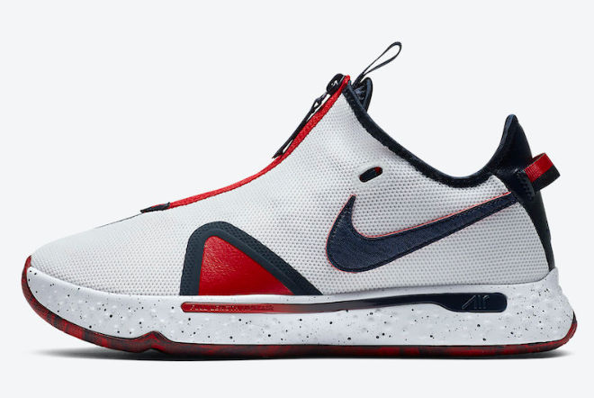 "2020 Nike PG 4 ""USA"" White/Blue-Red CD5082-101 Shoes"
