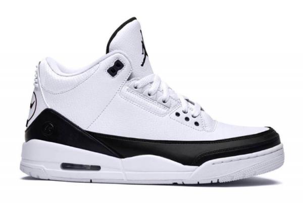 Cheap Fragment x Air Jordan 3 In White/Black DA3595-100