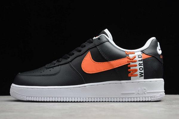 "Latest Nike Air Force 1 Low ""Worldwide"" Black/Orange-White CK6824-014"