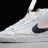 2020 Cheap Nike Blazer Mid 77 Reverse Logo Swoosh White DA4651-100-2