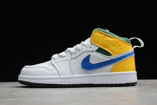 2020 Latest Kids Air Jordan 1 Mid Alternate Multi-Color Shoes 554725-128