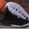 2020 Men's Nike LeBron 18 Black/Metallic Gold-White Basketball Shoes-1