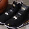 2020 Men's Nike LeBron 18 Black/Metallic Gold-White Basketball Shoes-2