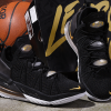 2020 Men's Nike LeBron 18 Black/Metallic Gold-White Basketball Shoes-3