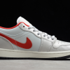 2020 Air Jordan 1 Low White Red New Sale DA4668-001-1
