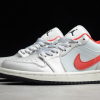 2020 Air Jordan 1 Low White Red New Sale DA4668-001-4