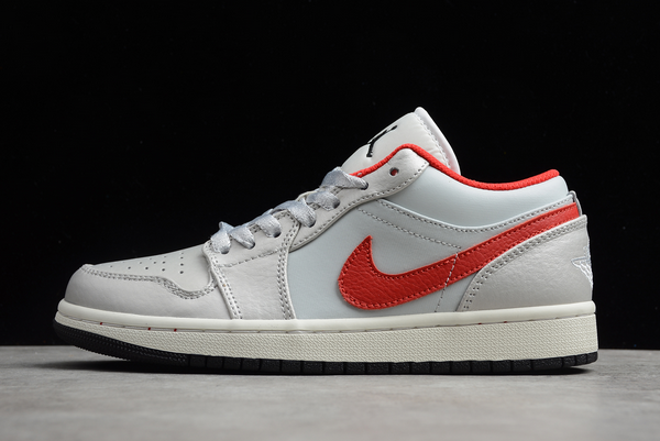 2020 Air Jordan 1 Low White Red New Sale DA4668-001