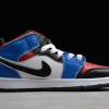 "2020 New Big Kids Air Jordan 1 Mid ""Top 3"" Shoes For Sale 554724-124-1"
