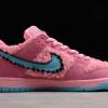 2020 New Grateful Dead x Nike SB Dunk Low Pink Bear Shoes CJ5378-600-1