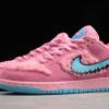 2020 New Grateful Dead x Nike SB Dunk Low Pink Bear Shoes CJ5378-600-2