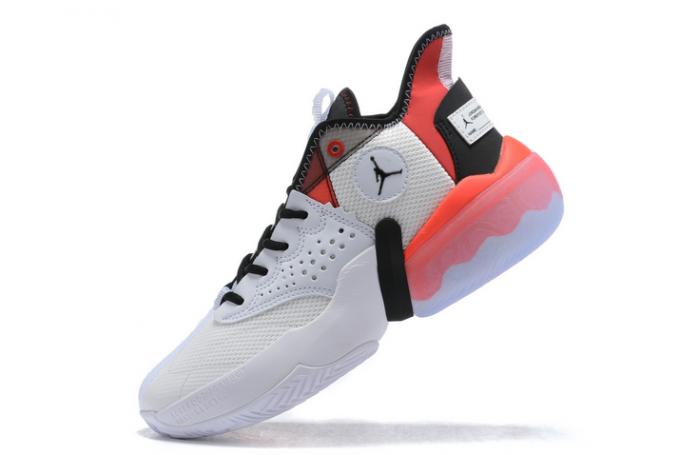 CK6617-100 Jordan React Elevation White/University Red/Black Sneakers