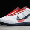 "New Nike KD 13 ""USA"" White/Obsidian/Sport Red Sneaker CI9948-101-1"