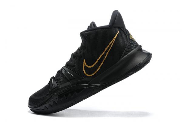 New Nike Kyrie 7 Black/Metallic Gold Shoes