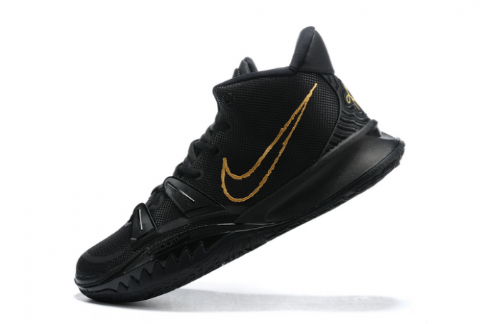 New Nike Kyrie 7 Black/Metallic Gold Shoes