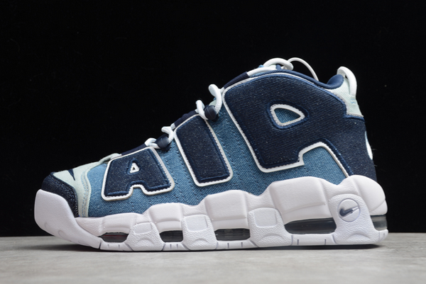 Shop Nike Air More Uptempo Denim Blue White CJ6125-100