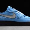 2020 Cheap Off-White x Nike Air Force 1 07 Low University Blue/Black-White Shoes CK0866-401-1