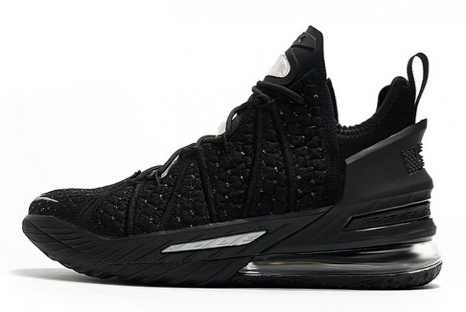 2020 Cheap Nike LeBron 18 Black/Silver For Sale