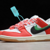 2020 Frame Skate x Nike SB Dunk Low Habibi Chile Red/White-Lucky Green-Black Shoes CT2550-600-2