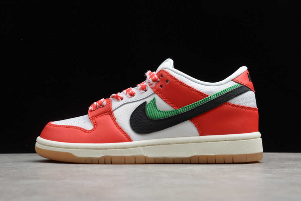 2020 Frame Skate x Nike SB Dunk Low Habibi Chile Red/White-Lucky Green-Black Shoes CT2550-600