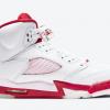 "Latest 440892-106 Air Jordan 5 ""Pink Foam"" White/Pink Foam-Gym Red Shoes-1"