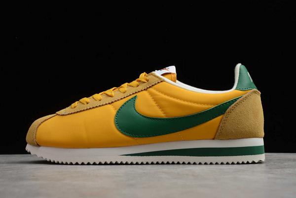 2020 Latest Nike Cortez Nylon Oregon Yellow/Gorge Green 876873-700 Sale