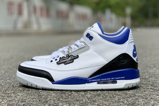 Buy Latest Fragment x Air Jordan 3 White/Royal Blue-Black DA3595-040