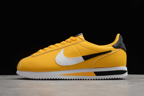 2020 New NBA x Nike Cortez Basic Leather SE Amarillo To Buy CI1047-700