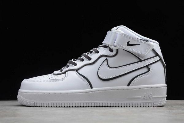 2020 Nike Air Force 1 '07 Mid White/Black-Chameleon To Buy 368732-810