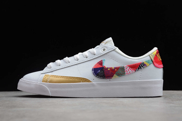 2020 Nike Blazer Low LE Chinese New Year White/Multi-Color Shoes Outlet Online BV6655-116