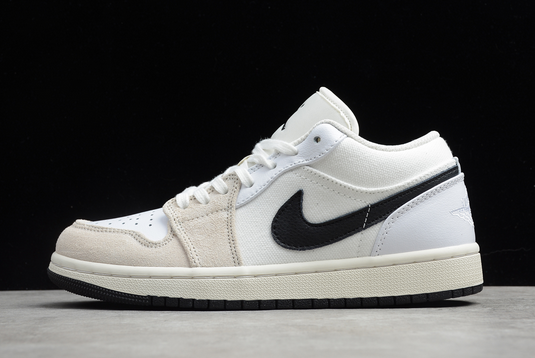 Buy 2020 Air Jordan 1 Low Astrograbber White Sail Black DC3533-100 Shoes