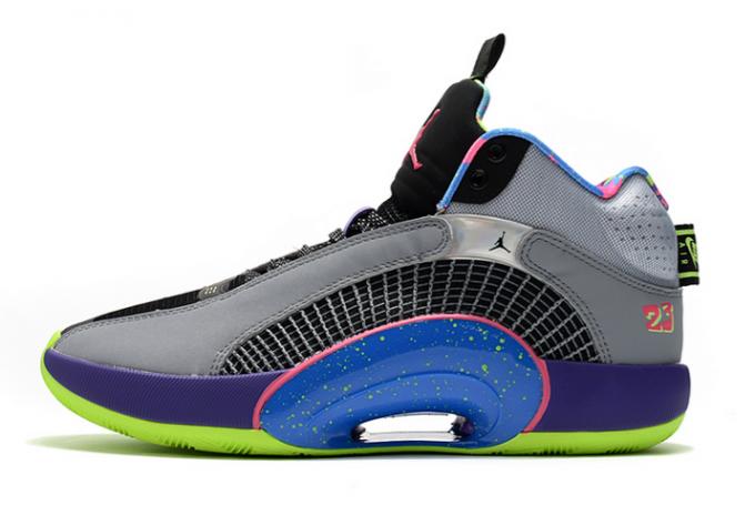 """Men's Air Jordan 35 """"Bel-Air"""" Cool Grey/Court Purple-Game Royal-Club Pink For Sale"""