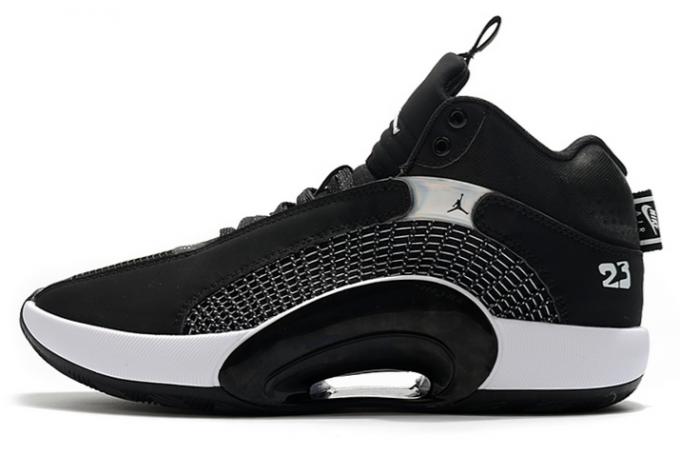 Men's Air Jordan 35 Black White Basketball Shoes For Sale