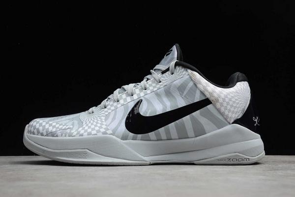 Nike Kobe 5 Protro DeMar DeRozan PE Wolf Grey/White-Black Sale CD4991-003