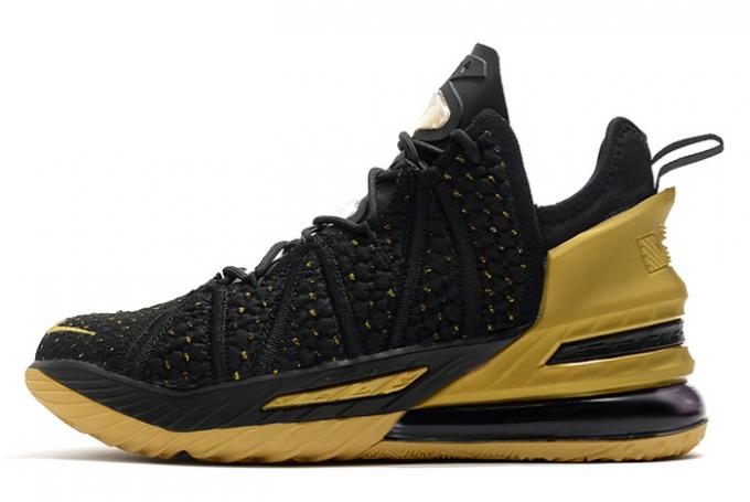 Nike LeBron 18 Metallic Gold/Black For Cheap