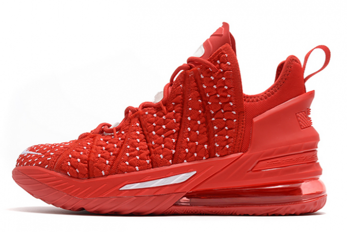 Nike LeBron 18 University Red/White 2020 For Sale