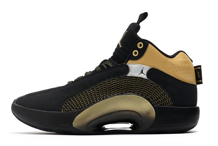 To Buy Air Jordan 35 XXXV Black/Metallic Gold Shoes