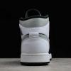 "2020 Air Jordan 1 Mid ""White Shadow"" Black/Medium Grey-White Outlet Sale 554724-073-2"